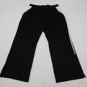 Nike Dri Fit 2XLx Black Sweat Pants Drawstring Pol